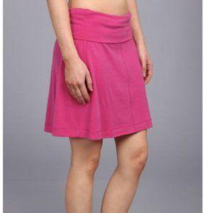 ICEBREAKER Villa Skirt Merino Wool Fold Over Pink